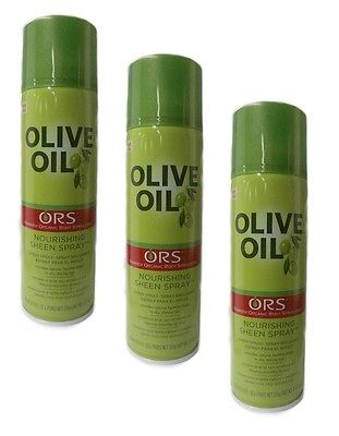 3x Organic Root Stimulator ORS Olivenöl  Olive Oil NOURISHING SHEEN SPRAY 472 ml ()