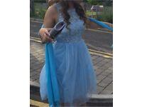 blue prom / bridesmaid style dress size 8