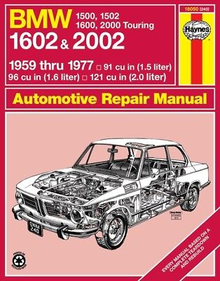 Repair Manual fits 1961-1976 BMW 2002 1600 1600-2  HAYNES ()