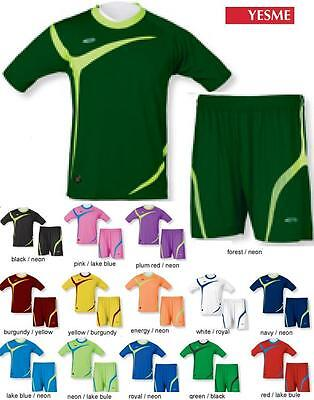 e7528c2f2 16 Soccer Futbol Team Shirts Jerseys Uniforms CEN1278 YESME Wholesale   20 kit