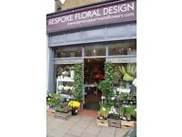 Saturday florist required in Balham, south west London