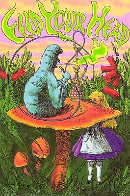 Feed Your Head Alice In Wonderland Hookah Caterpillar Art 24X36