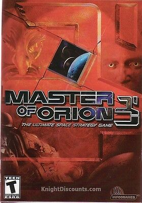 MASTER OF ORION 3 III - US Version -Rare Space Civilization Strategy PC Game NEW