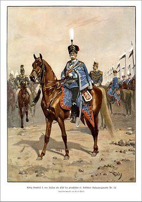 KÖNIG HUMBERT I. ITALIEN HUSAREN DREIBUND WILHELM II. FRANZ JOSEPH K&K UNGARN 67