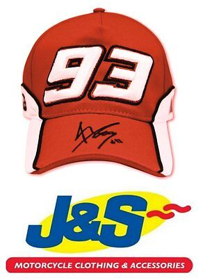 MARC MARQUEZ RED CAP 1031 MM93 MOTO GP MOTORCYCLE RACING BASEBALL J&S