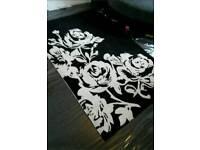 Beautiful modern black and white rug