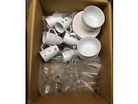 Large Crockery & Glassware Package