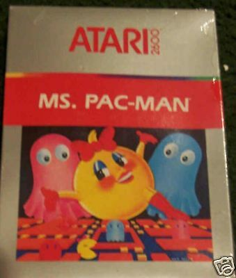 MS. PAC-MAN Atari 2600 NEW Old Stock in Box NTSC Some dents