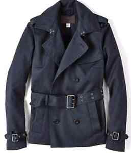 @ like new Fossil Blair trench coat blue size medium