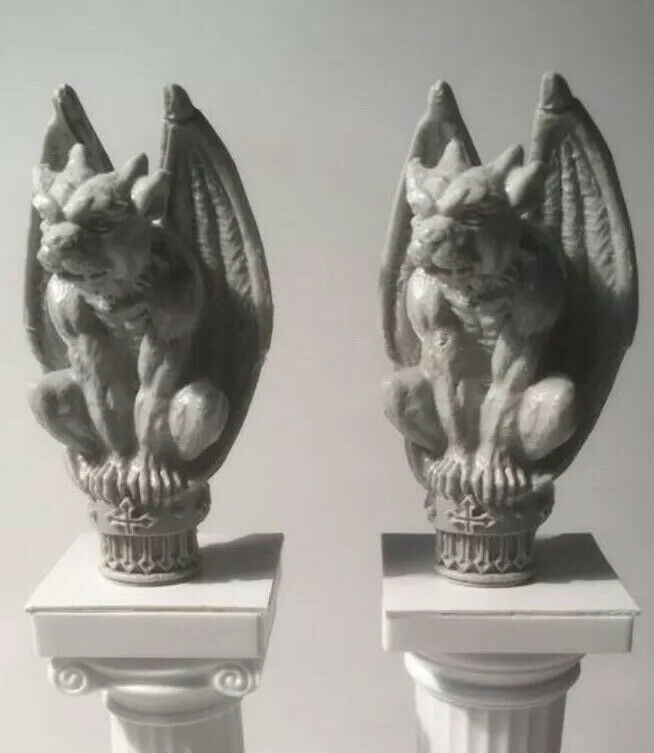 Miniature  Gothic Gargoyle Statues - Dollhouse Fantasy Myth Diorama Decorations