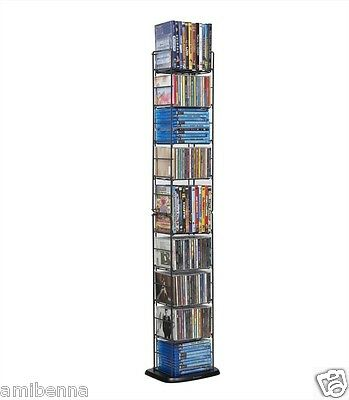 Atlantic Cd Tower Dvd Blue-ray Media Folding Rack Storage...