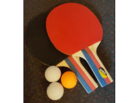 Table Tennis Bats*2(with 3 balls)