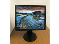 NEC 19 LCD monitor with leads - Laptop Dual View CCTV **FREE DELIVERY**