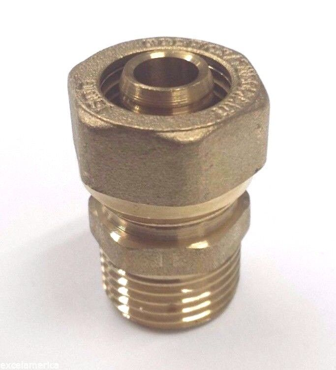 """Gasflex MALE Fitting 1620 3/4"""" tubing one end & 3/4"""" Male NPT other end (1 un)"""