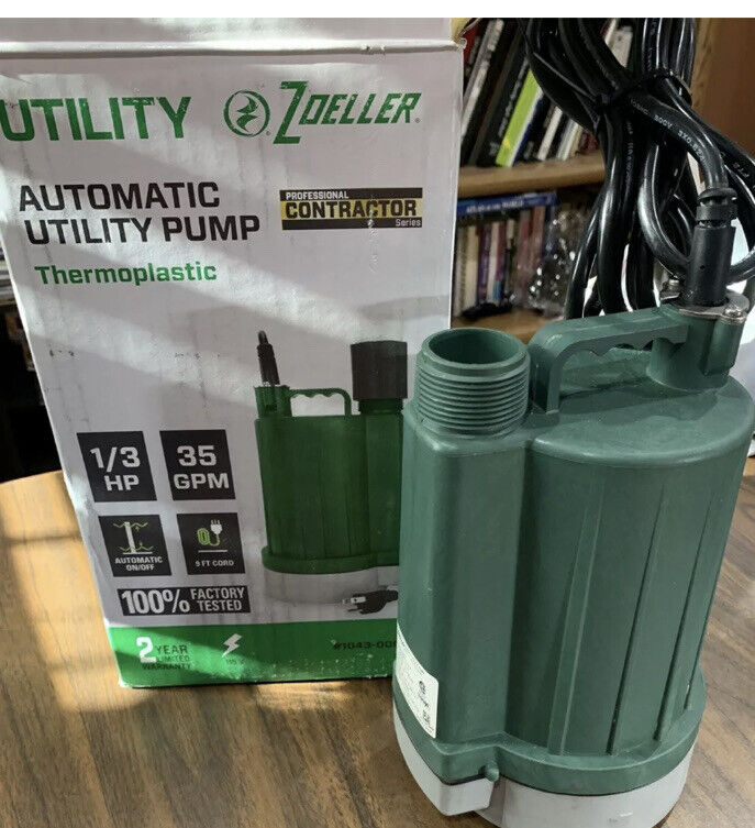 Zoeller 0.33-HP Thermoplastic Automatic Utility Pump 1043-0006 115V