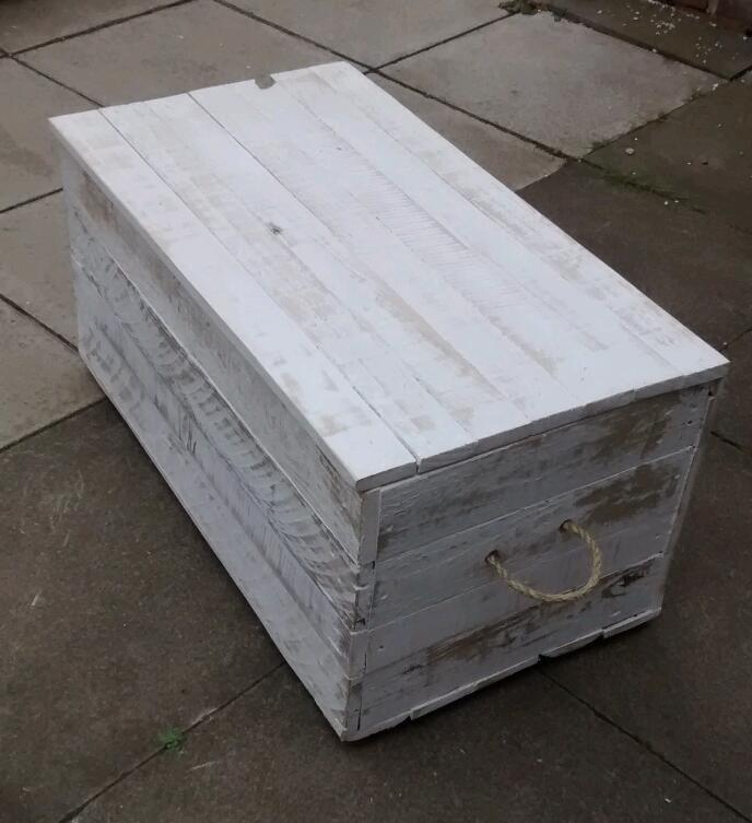 Solid wood hand made reclaimed wood toy blanket box chest for Furniture queensferry