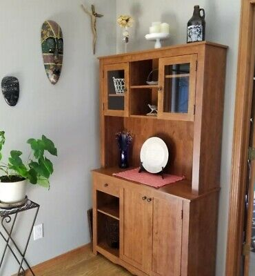 China Cabinet For Kitchen Dining Room Small Area Spaces Storage Display Hutch