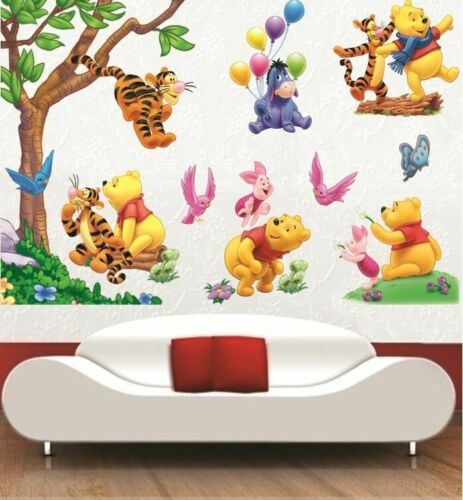 Home Decoration - Large Winnie The Pooh Wall Art Decal Removable Nursery Kids Stickers Home Decor