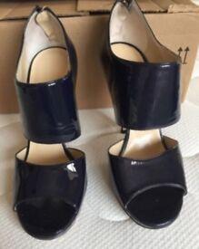Jimmy Choo blue patent leather size 4.