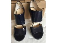 Jimmy Choo blue patent leather size 4.