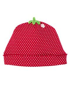 NWT Girls Gymboree RED STRAWBERRY Dot Bubble One-Piece / Beanie Hat 0-3-6-12-18