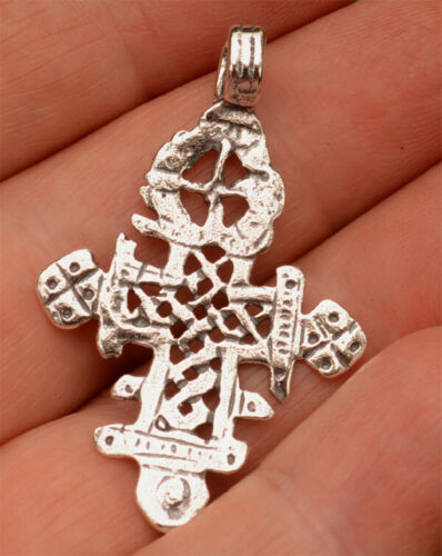 Coptic Cross in Sterling Silver, Ethiopian Coptic,  SS-295
