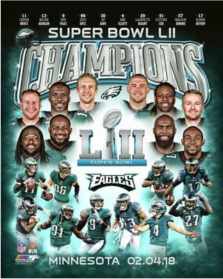 Philadelphia Eagles 2017 Super Bowl LII Champions Composite Official 8x10 Photo