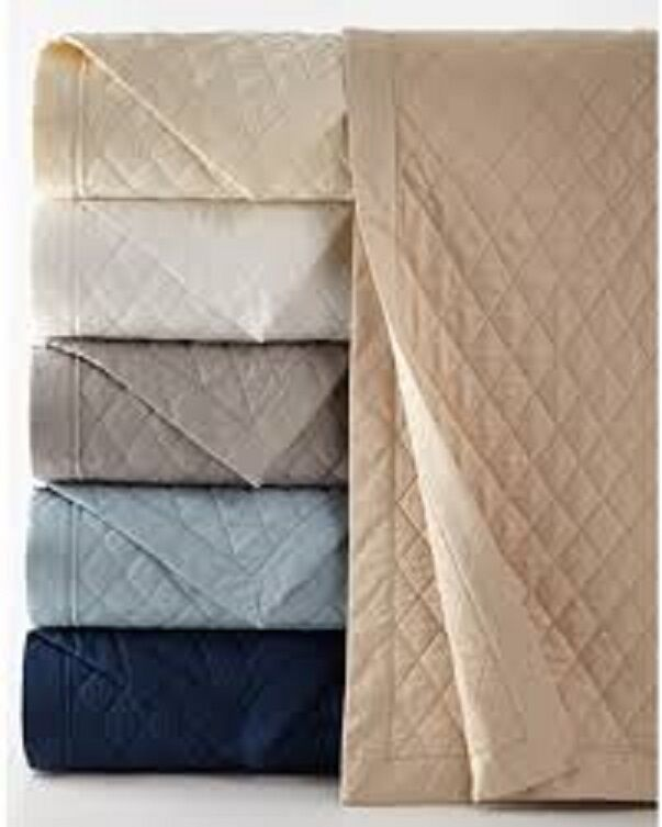 NEW Ralph Lauren Bedford Classic White QUEEN Quilted Coverlet MSRP $400!