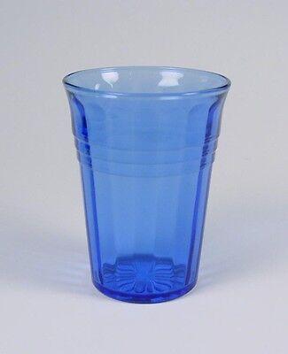 Hazel Atlas Glass ~ Moderntone ~ Cobalt - 9 oz Flat Water Glass - Super Nice!