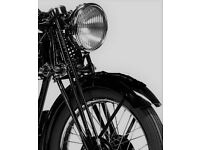 Wanted 1930's - 1950's Motorcycle 500cc-1000cc. Girder style forks essential