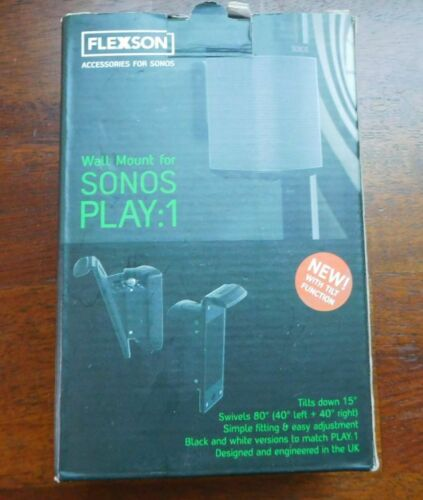 Genuine New Open Box Flexson Wall Mount for Sonos PLAY:1 - (Black)