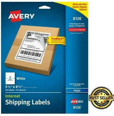 Half Sheet Printable Shipping Address Labels Inkjet Printers Trueblock 50 Label