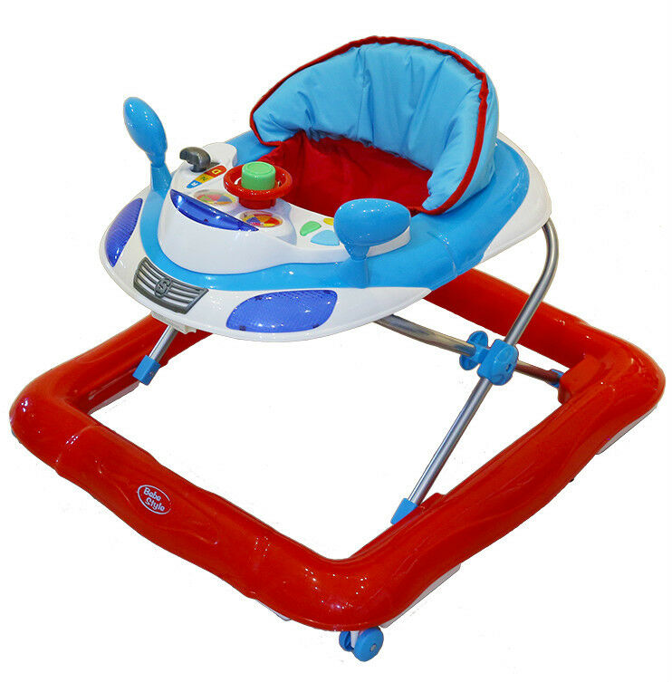 Bebe Style Deluxe Car Themed Baby Walker + Musical Activity Toy! NEW