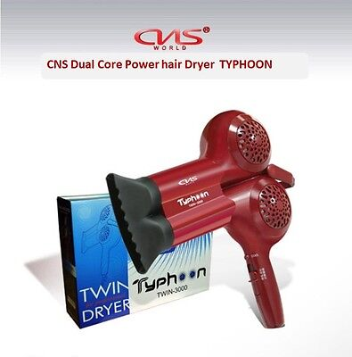 CNS Professional Dual Core Hair Dryer Typhoon TWIN 3000 Unique Fast Styling