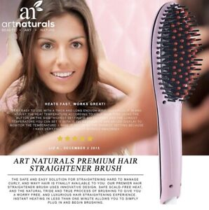 Hair Straightener Brush pink