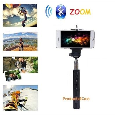 Bluetooth Selfie Stick With Zoom for Android and iPhone