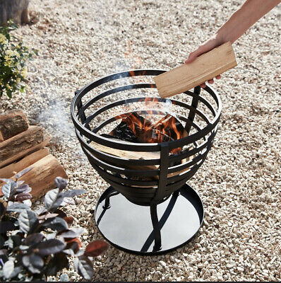 Brand New! Texas Outdoor Painted Stripe Fire Basket/Fire Pit