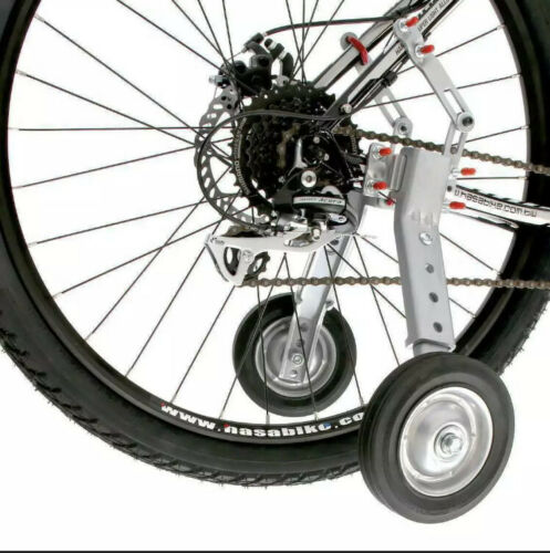New Adjustable Adult Bicycle Bike Training Wheels Fits 22 to 28