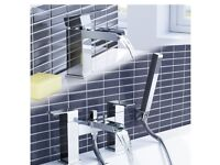 Waterfall Basin Sink Mixer Tap + Bath Mixer Shower Bathroom Set