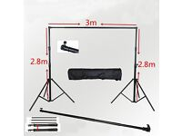 Full Studio Softbox Lighting and Framing Set Up with Accessories