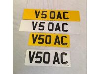 V5 OAC / V5O AC Personalised/Private number plate