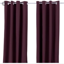 CURTAINS- Thick, long Ikea deep purple/ aubergine colour