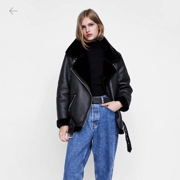 dfc164b5c22c Brand new Zara biker jacket with faux fur Eur L