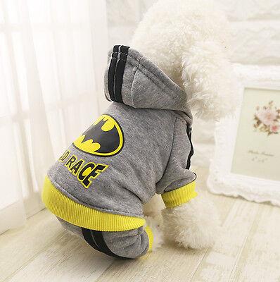 Pet Dog Clothes Puppy Winter Coat Sweat Suit Hoodie Apparel Superman Batman - Superman Dog