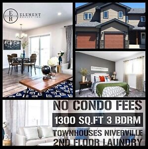New Townhomes, Niverville, No Condo Fees, 3 bedrooms