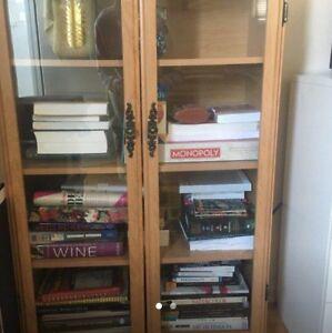 Glass bookshelf