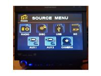 Ripspeed DV740 Flip Out Touchscreen Dvd SD Card USB Mp3 Head Unit Player
