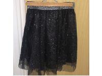 Zara glitter skirt
