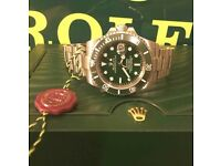 Green Rolex Oyster Perpetual Submariner 116610LV HULK FREE SHIPPING