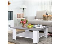 Grey & White Coffee Table